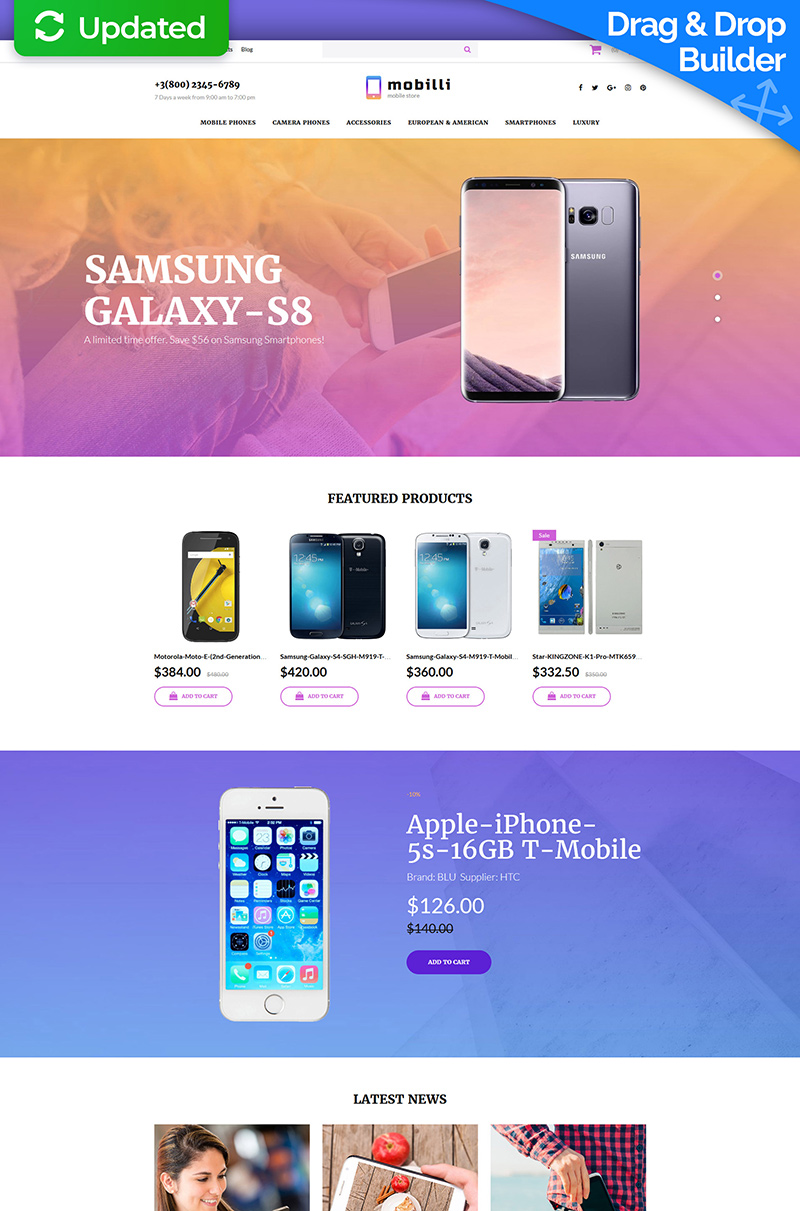 Mobile Store Responsive MotoCMS Ecommerce Template - screenshot