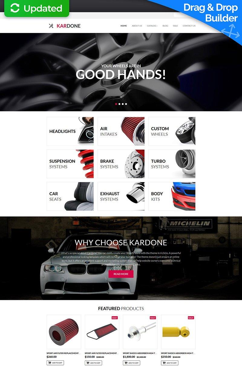 Modello MotoCMS E-commerce Responsive #63719 per Un Sito di Ricambi Auto