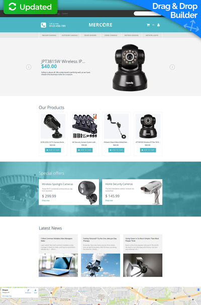"MotoCMS интернет-магазин ""Mercore - Safety Equipment Store Responsive"" #63749"