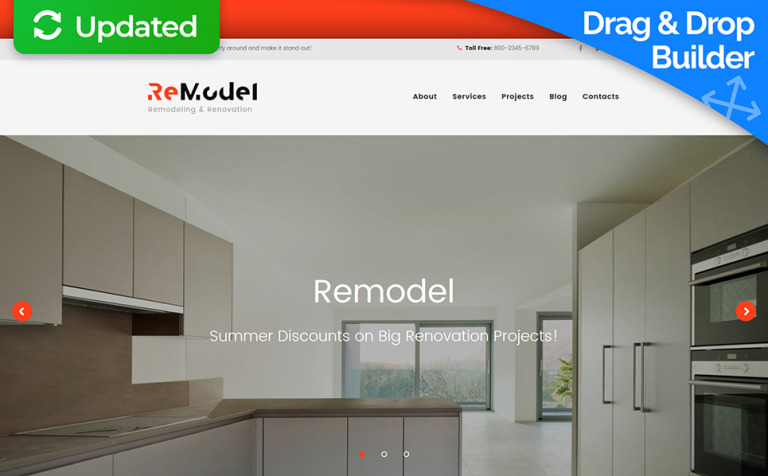 Remodel - Renovation and Interior Design Moto CMS 3 Template New  Screenshots BIG