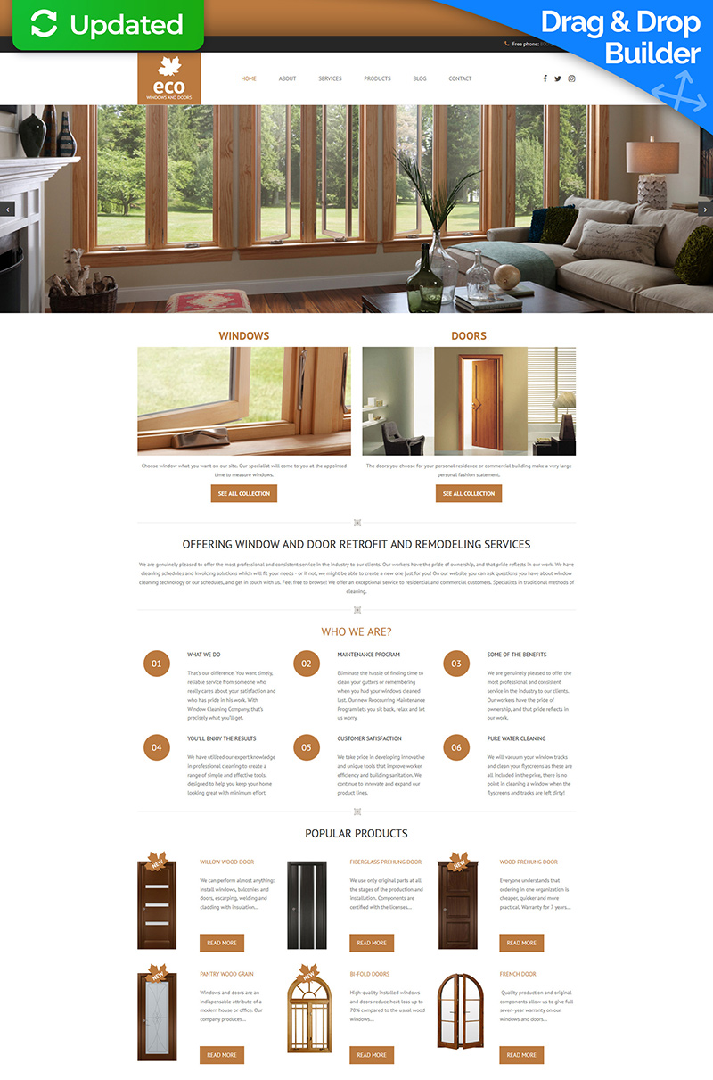 Responsive Moto CMS 3 Template over Interieur-design №63705