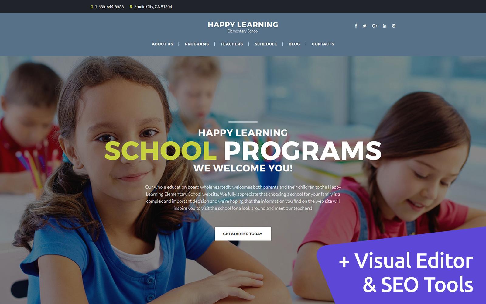 """Responzivní Moto CMS 3 šablona """"Elementary School"""" #63728"""