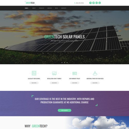 Greentech - MotoCMS 3 Template based on Bootstrap