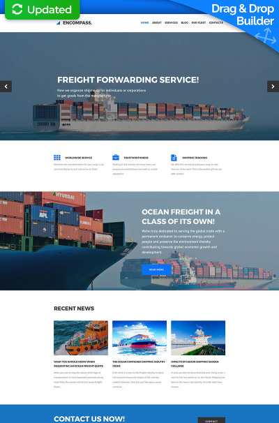 Maritime Responsive Tema Moto CMS 3