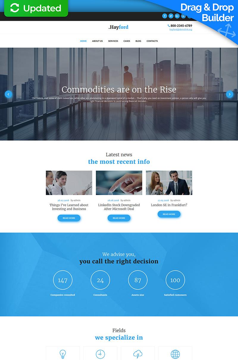 Templates Moto CMS 3 Flexível para Sites de Empresa de Investimentos №63707