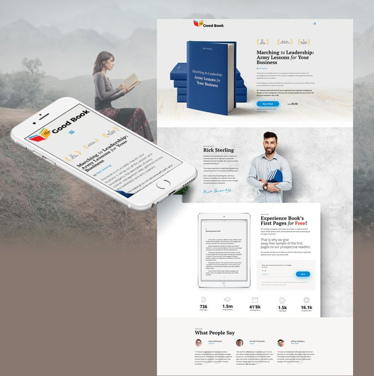 The Good Book MotoCMS 3 Template New Screenshots BIG