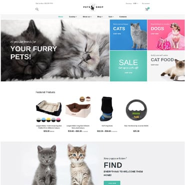 Shopify Template animaux-de-compagnie magasin 63802