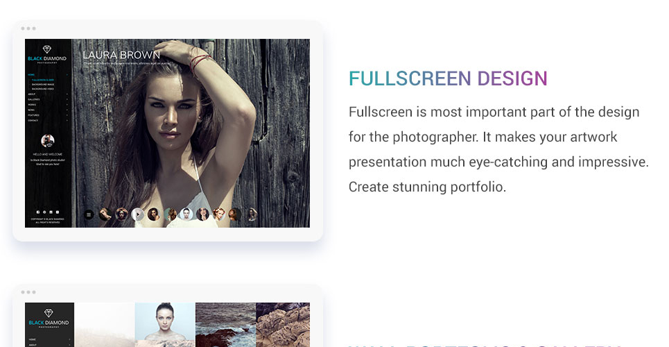 Diamond - Photography & Videography Website Template #63804