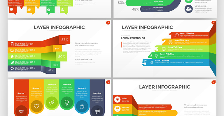 Layer Infographic Powerpoint Template 63824