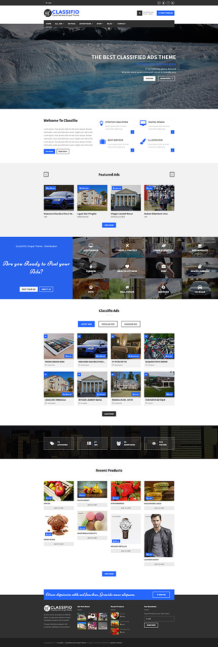 Website Design Template 63835 - responsive drupal google maps corporate business companies advertising