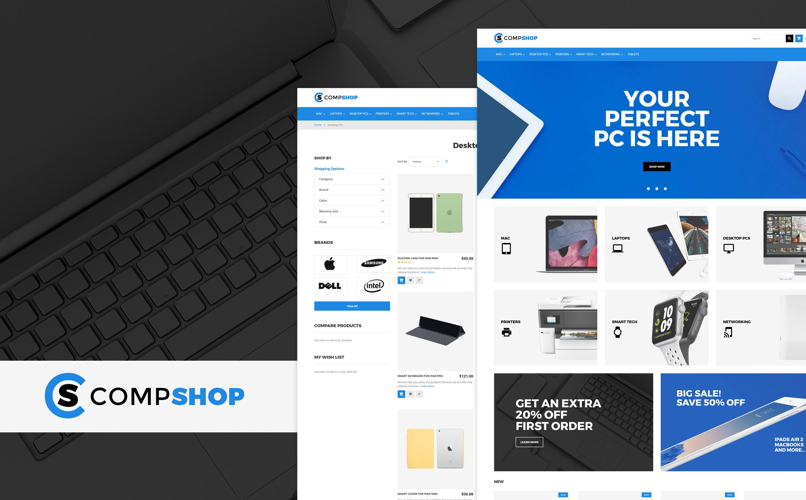 CompShop - Computer Store Magento Theme