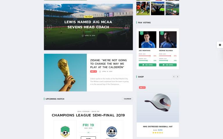ed02cc3e1dfbfb ALLSTAR - Sport Multipurpose Bootstrap 4 Website Template Big Screenshot