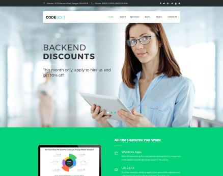 CodeBolt - Software Company WordPress Theme