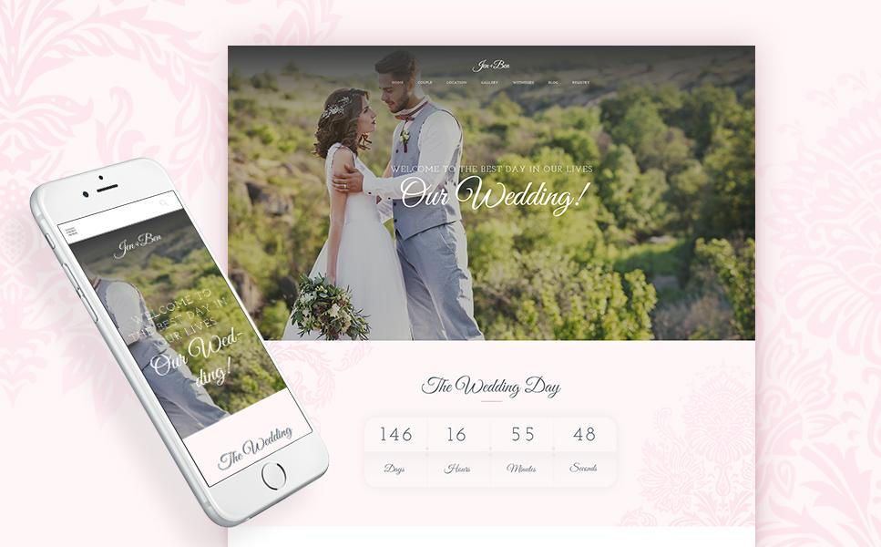 Адаптивный шаблон сайта на тему организация свадьбы #63832