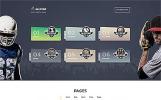 ALLSTAR - многоцелевой Bootstrap 4 шаблон спортивного сайта