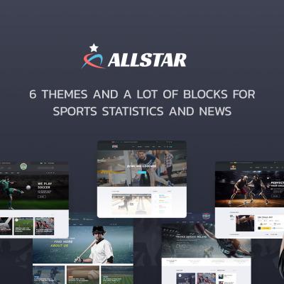 ALLSTAR - Sport Multipurpose Bootstrap 4 Website Template #63853