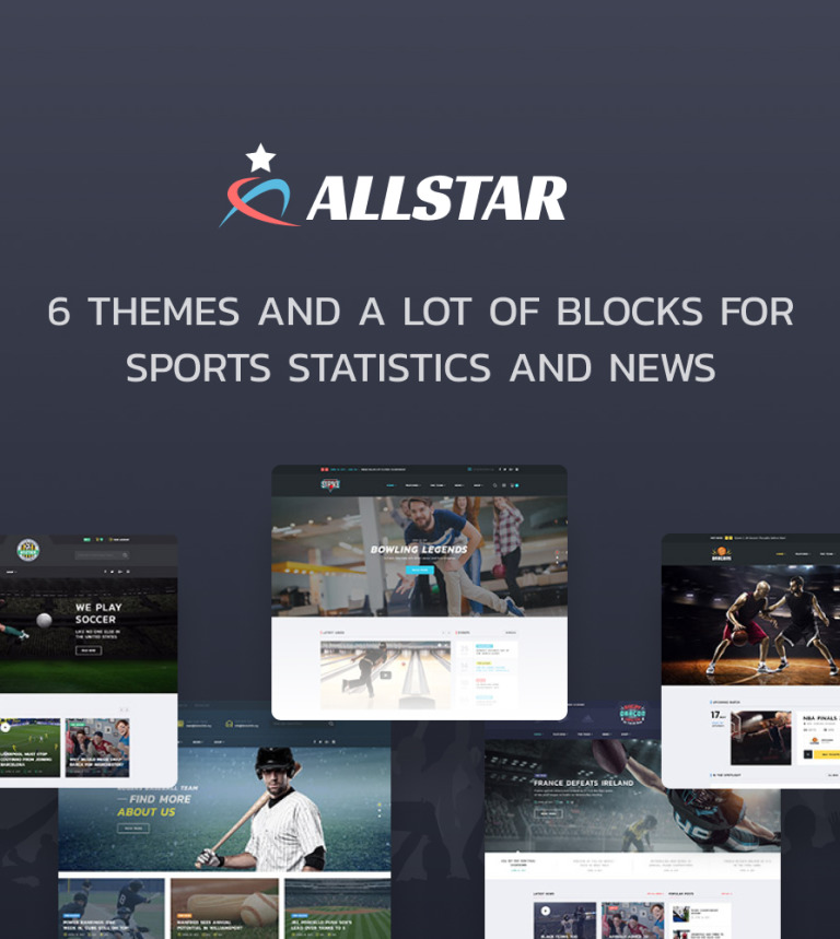 49b9f6a8 ALLSTAR - Sport Multipurpose Bootstrap 4 Website Template Big Screenshot