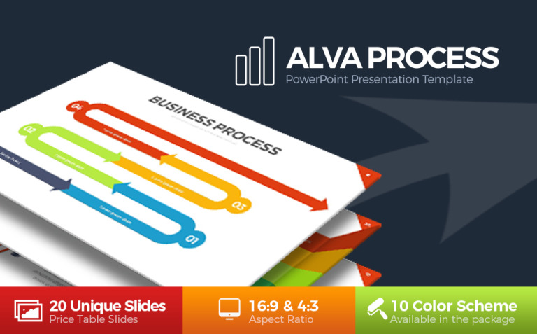 Alva Process PowerPoint Template New Screenshots BIG