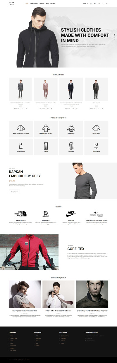 Apparel VirtueMart Template #63887