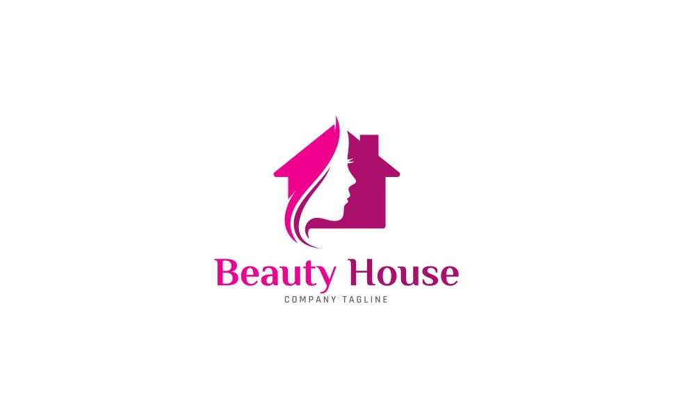 Beauty house logo template 63893 for House logo design free