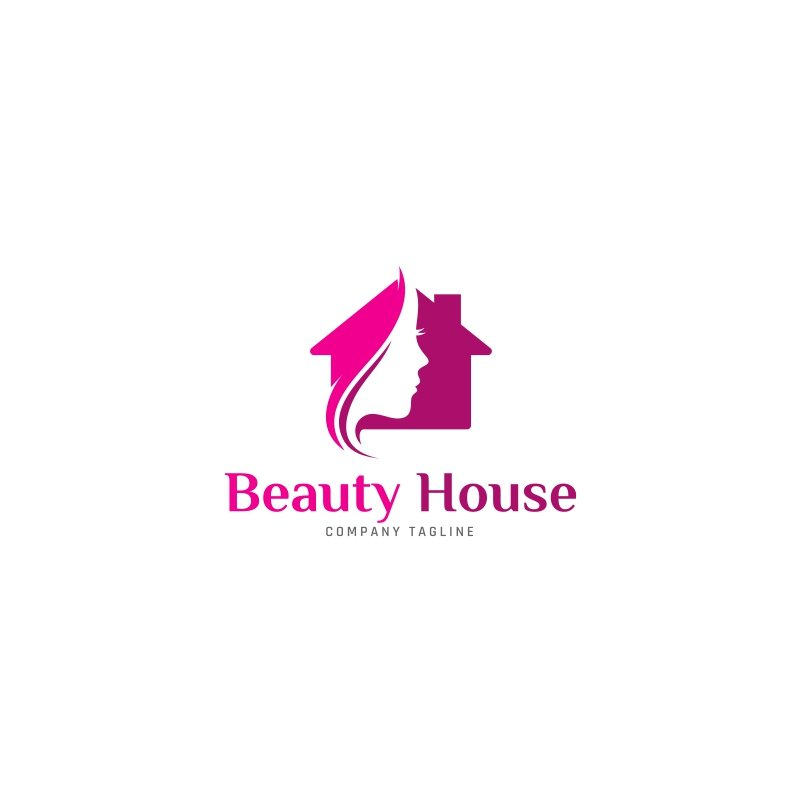 Beauty House Logo Template