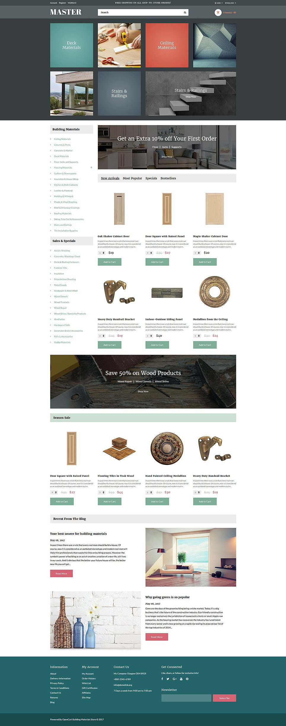 building material list template
