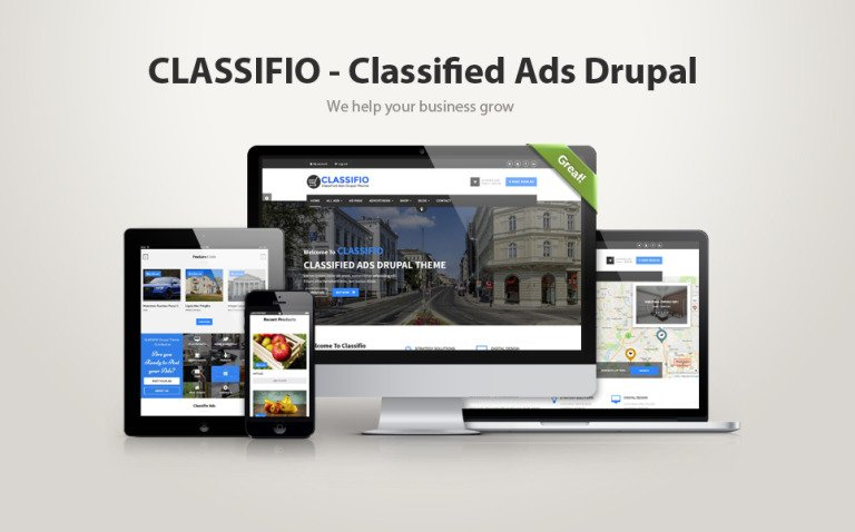 Classifio - Classified Ads Drupal Template New Screenshots BIG