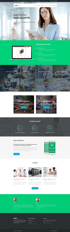 CodeBolt - Software Company WordPress Theme - screenshot