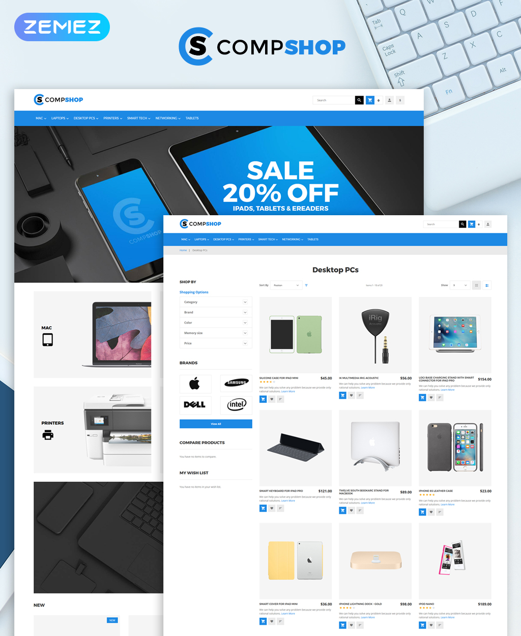 CompShop - Computer Store Magento Theme - screenshot