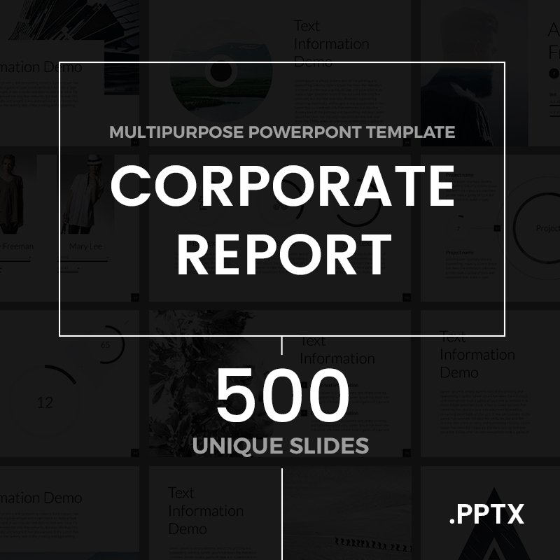 Corporate Report Powerpoint Template #63827