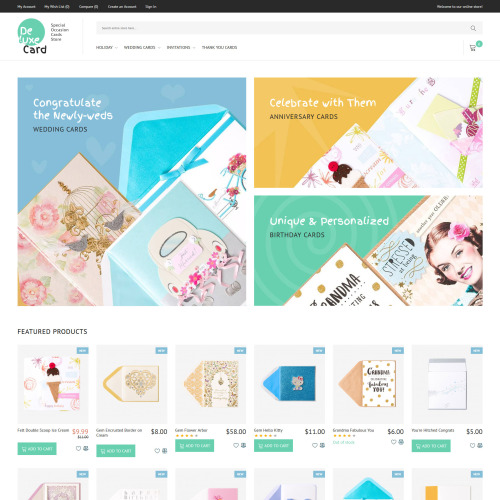 Deluxe Card  - HTML5 Magento Template