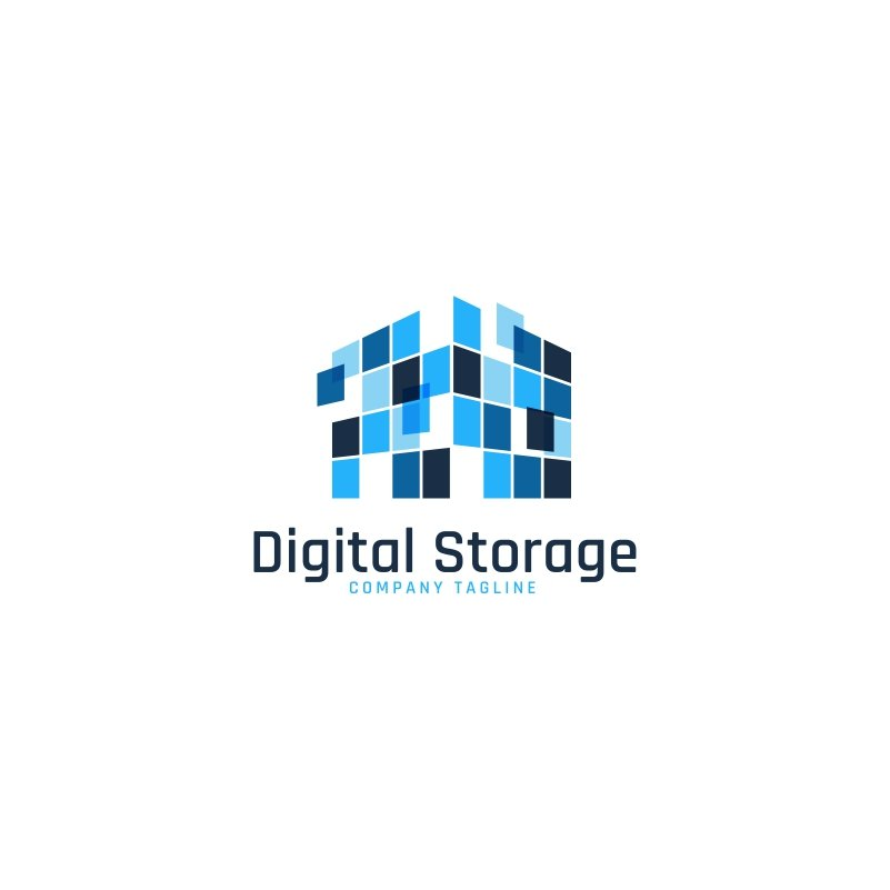 Digital Storage Logo Template