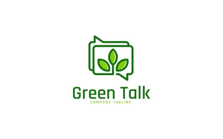 Green Talk Logo Template New Screenshots BIG