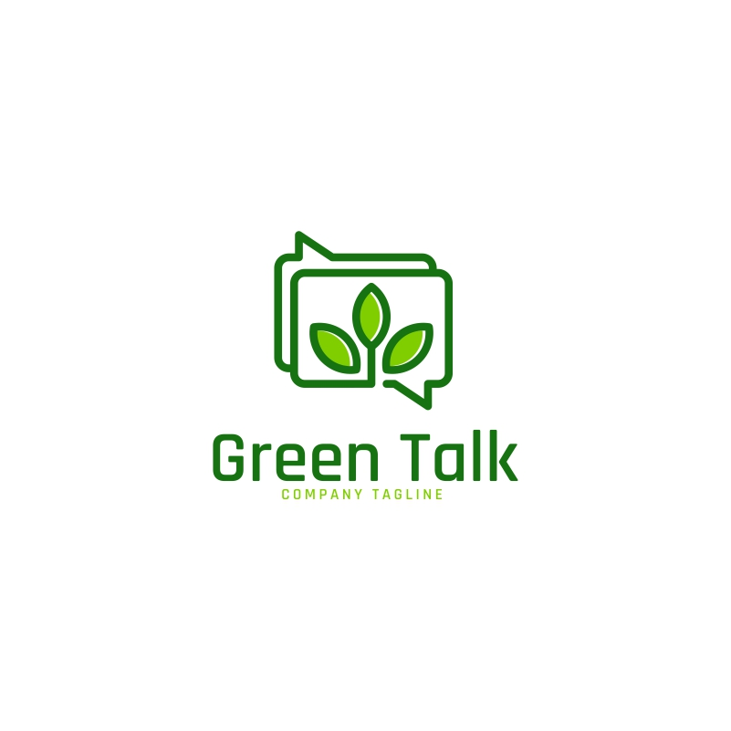 Green Talk Logo Template