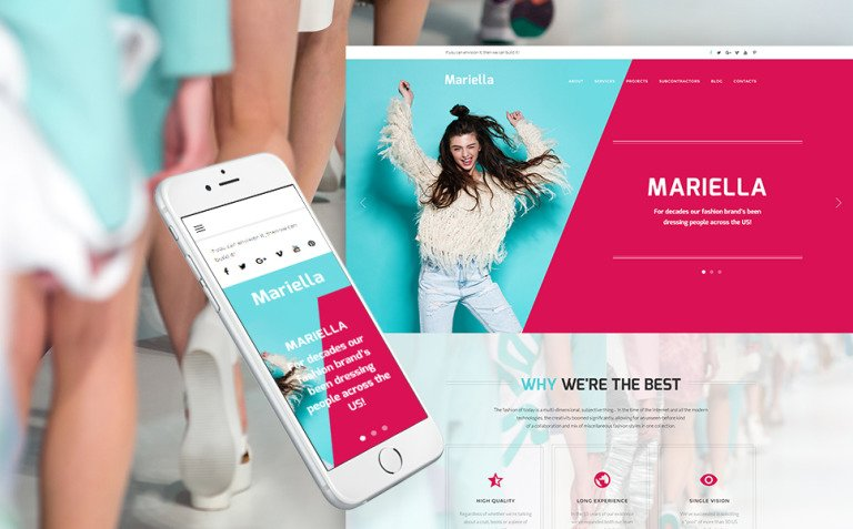 Mariella - Fashion Designer WordPress Theme New Screenshots BIG