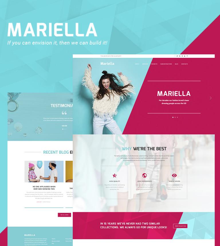 Mariella - Fashion Designer WordPress Theme