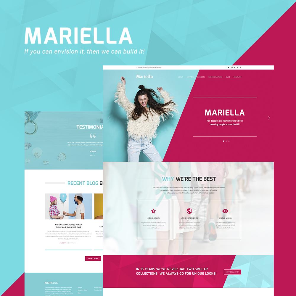 """Mariella - Fashion Designer"" 响应式WordPress模板 #63810"