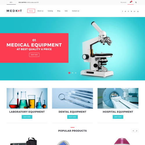 Medkit - Shopify Template based on Bootstrap