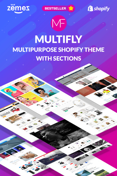 Multifly - Multipurpose Online Store Shopify Template #63842