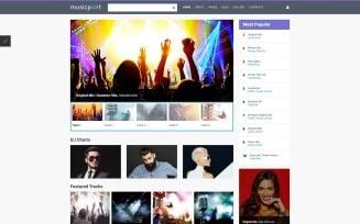 Music Portal Responsive Joomla Template