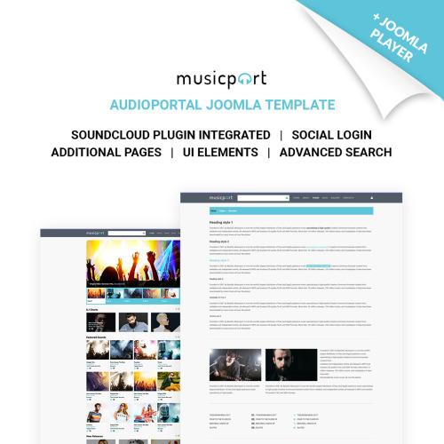 Music Portal - Joomla! Template based on Bootstrap