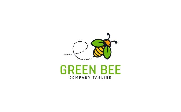 Nature Green Bee Logo Template New Screenshots BIG