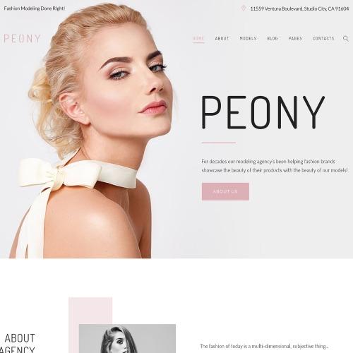 Peony  - HTML5 WordPress Template