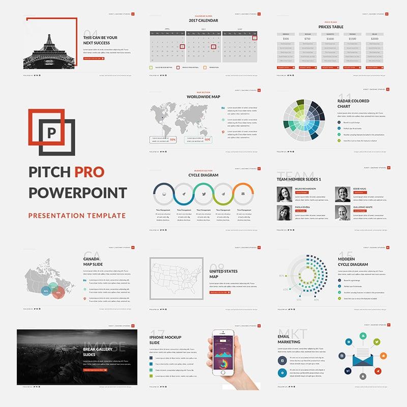 """Pitch Pro"" - PowerPoint шаблон №63876"