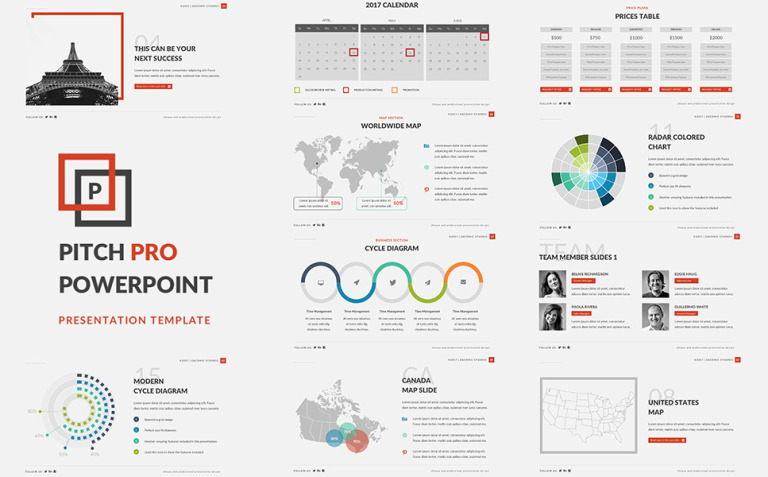 Pitch Pro PowerPoint Template New Screenshots BIG