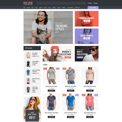 Responsive OpenCart Vorlage für T-Shirt Shop
