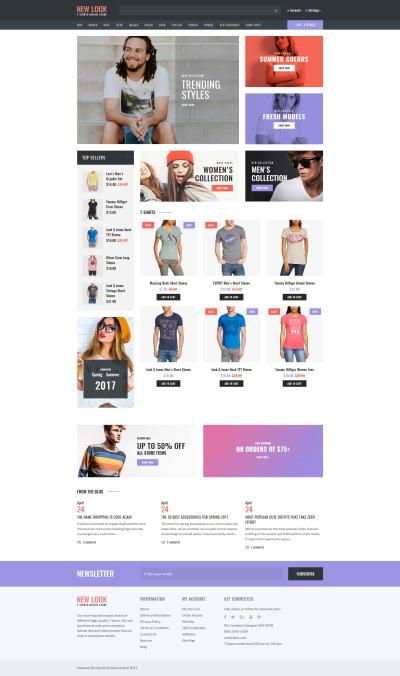 T-shirt Shop Responsive OpenCart Şablon