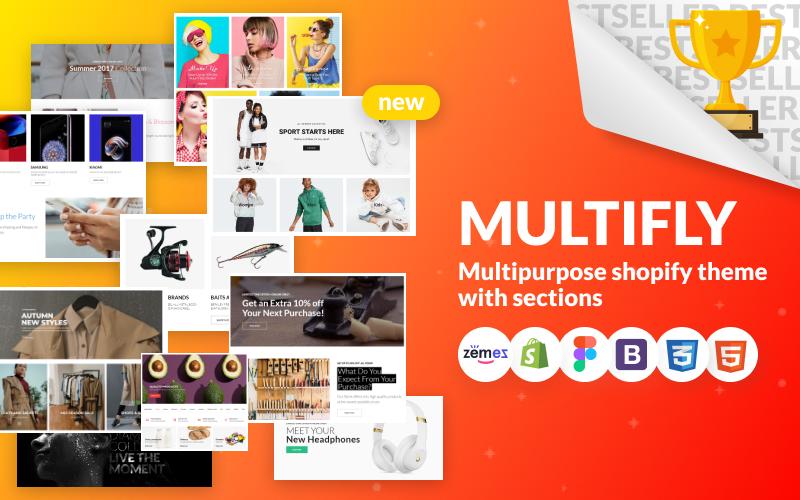 Responsivt Multifly - Multipurpose Online Store Shopify-tema #63842