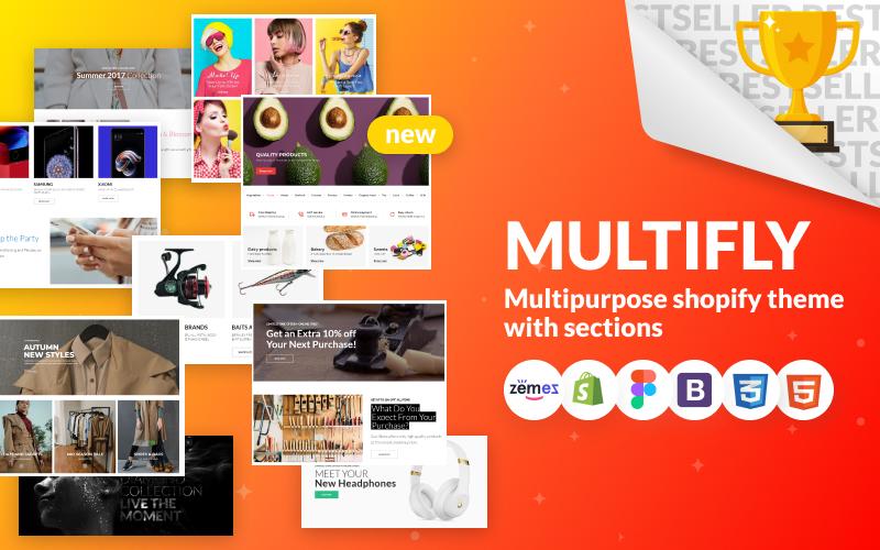 """Responzivní Shopify motiv """"Multifly - Multipurpose Online Store"""" #63842"""