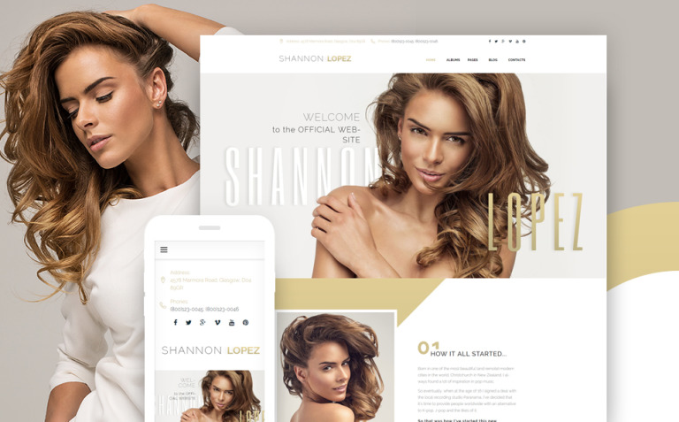 Shannon Lopez - Celebrity WordPress Theme New Screenshots BIG